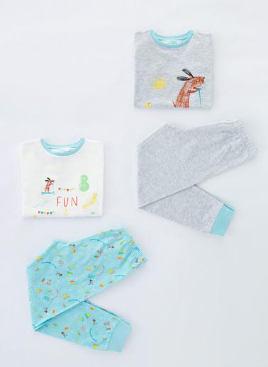 Penti Çok Renkli Erkek Çocuk Play Buddıes Ls- 4Lü Pijama Takımı Renkli